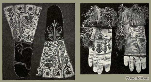 England, gauntlets, gloves, fashion, history, middle ages
