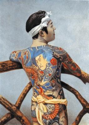 Japanese full body tattoo. Traditional Japan Tattoos
