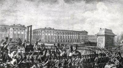 French revolution history. Death of Louis XVI.