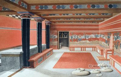 Palace of Knossos. Ancient Minoan culture. Room of the Throne. ALABASTRA.