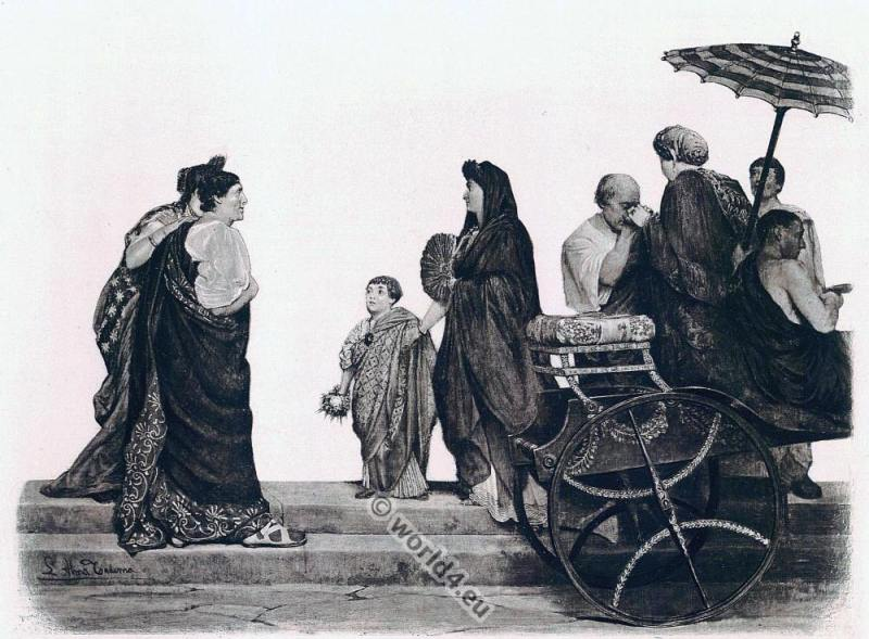 roman fashion history, Ancient, Rom, theatre, figures, costumes