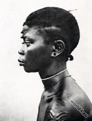 Central African Republic. African rasta hairstyles. Traditional Africa tribe. piercing. tattoo.
