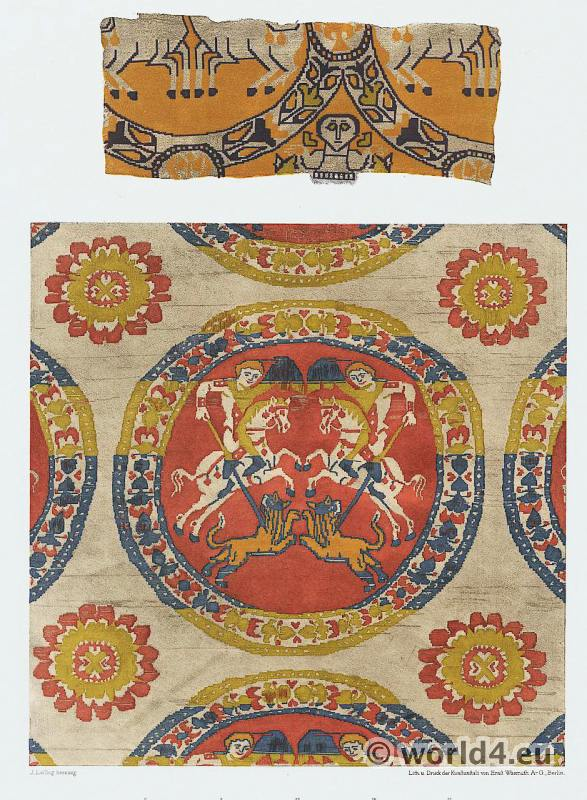 Ancient Byzantine silk fabrics,