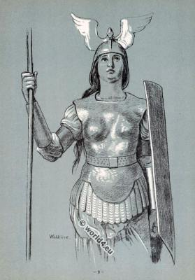 Brünnhilde. Opera Costumes. The Ring Cycle. Ring des Nibelungen. Richard Wagner.