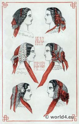 Head dresses in Victorian England