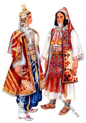 Vladimir Kirin. Serbian national costumes. Prizren, Sredačka Župa. Народна носња
