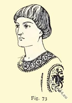 Byzantine Costume History.Men Hairdressing.
