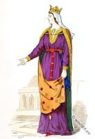 Capetian, Costume History, middle ages, nobility,14th, century, fashion.