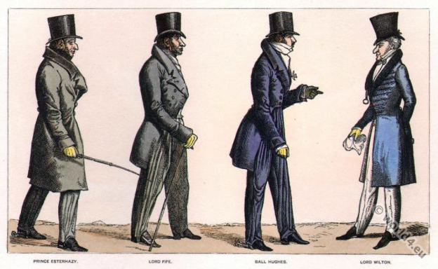 Dandy Clubs. Dandysme. Georgian Fashion. Regency costumes. Satirical 19th century.