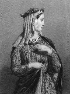 Eleanor of Aquitaine. Medieval Queen. Middle ages fashion history. Gothic clothes, 12th century fashion