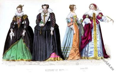 HENRI IV, Louis XIII, Baroque, Nobility, French, costume, fashion history, historical, dress, 17th century,