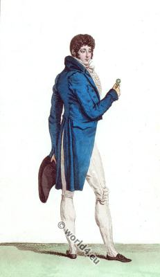 Regency costumes. France First Empire Fashion.