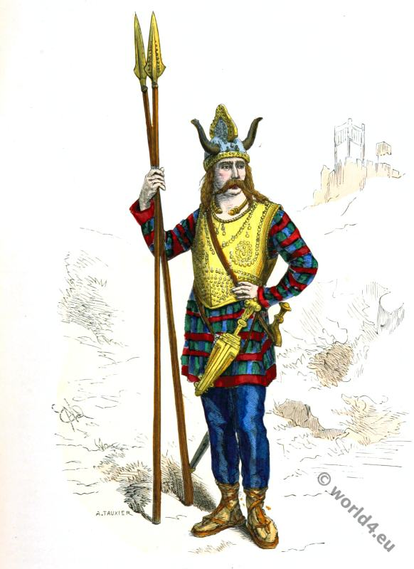 Gallic Costume History. 5th century costume. Gaul independent.