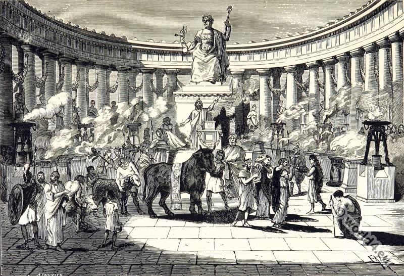Gallic,  Roman, temple, Augustus, Lyon