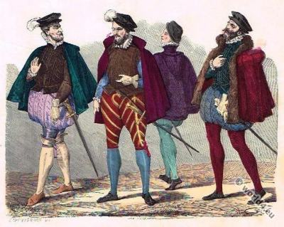Baroque Costume History. Gentlemen fashion 16th century