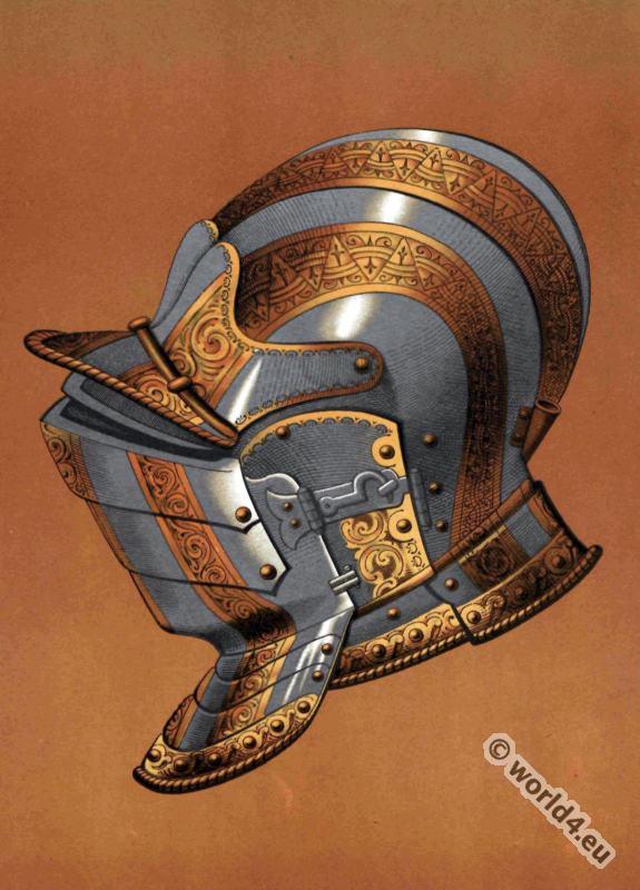 Renaissance Armor. Closed helmet with visor.
