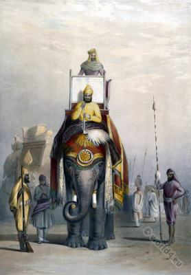 India Costume History. Maharaja of Patiala.Portraits Of The Princes & People Of India