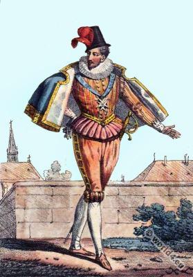 Anne de Batarnay, Duc de Joyeuse. Renaissance court dress. 16th century fashion. Baroque costumes