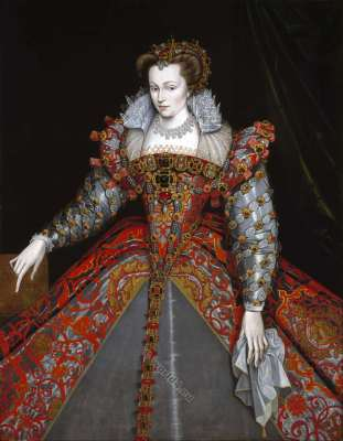 Louise de Lorraine. Renaissance Queen. 16th century fashion