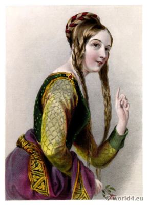 Éléonore d'Aquitaine, Eleanor, Aquitaine, Medieval Queen, Middle ages costumes history