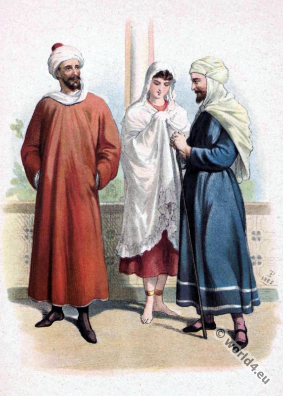 Medieval Costume History. Moorish robes. Arabian costumes.