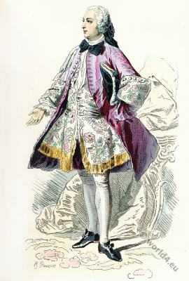 Paris Fashion. Louis XV. Rococo fashion