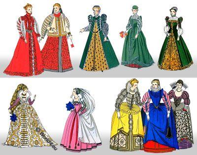 Fashion, history, Renaissance, costume, historical, modes, seizième siècle
