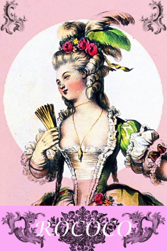 Rococo fashion history. Marie Antoinette costumes.18th century costumes.