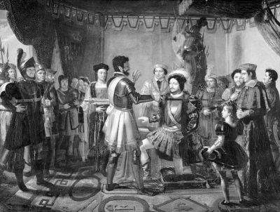 Pierre de Terrail Bayard, knighted,Francis I, Medieval knights,
