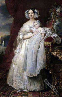 French Queen. Hélène de Mecklembourg-Schwerin, duchesse d'Orléans.