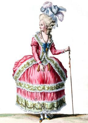 Robe à la Circassienne. Rococo fashion history. 18th century costumes.