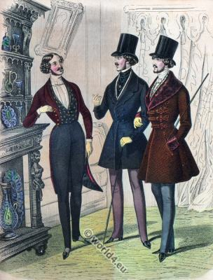 Romantic, Dandy, costumes, Romanticism, fashion history