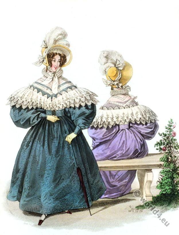 Embroidered Canezou. Romantic era costume 1833.