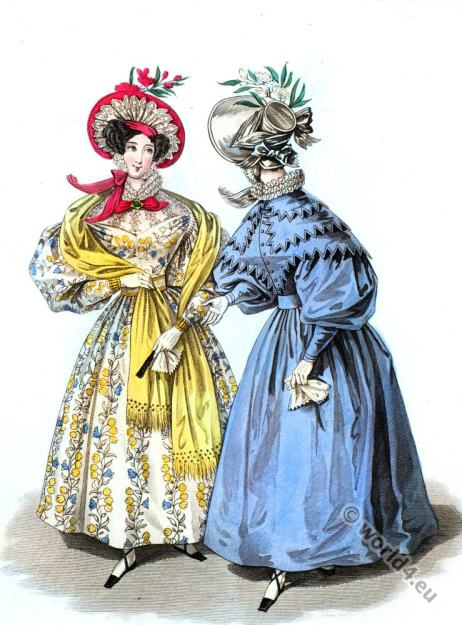 Naples dress. Romantic, fashion, costumes, headdresses, regency, Victorian