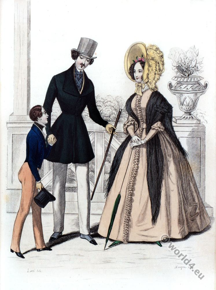 Man Costume By Humann House Paris La Mode 1837 Costume History