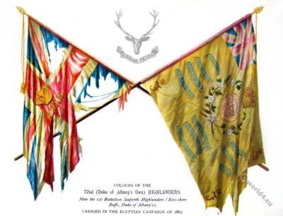 Flag Colours of the 72nd Highlanders. Duke Of Albany