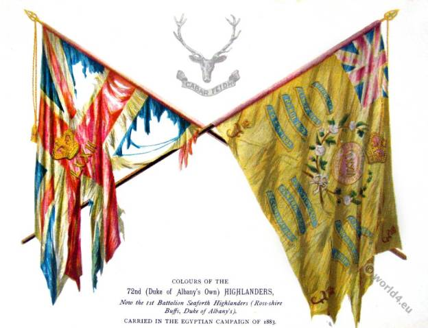 Flag Colours of the 72nd Highlanders. Duke Of Albany