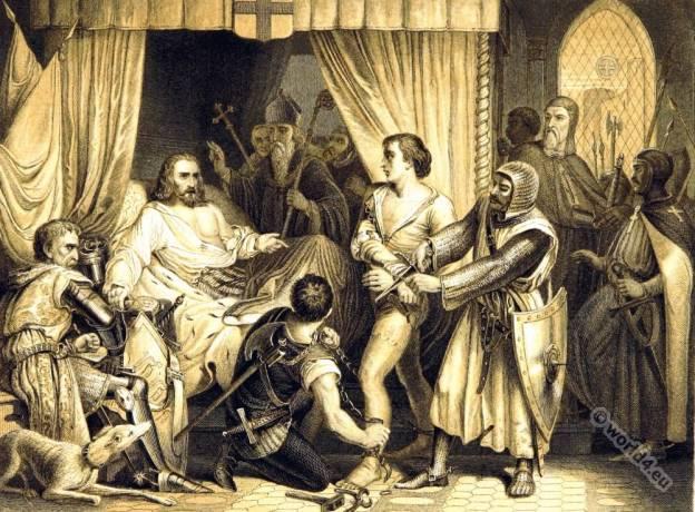 Richard Cœur de Lion. England King Richard I. Lionheart. Mediaval knight.