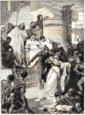 Lays,ancient Rome,Death,Virginia,Thomas Babington Macaulay,illustration,costume