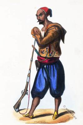 Algeria. Regular infantryman Abdel-Kader. Historical clothing.