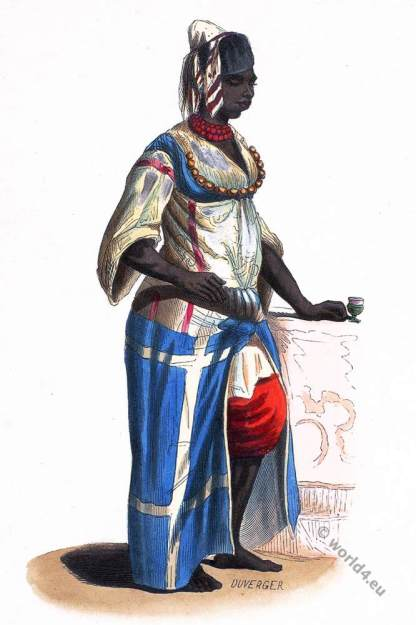 Maidservant slave, Maid, Esclave, costume, Algeria, Historical, clothing,