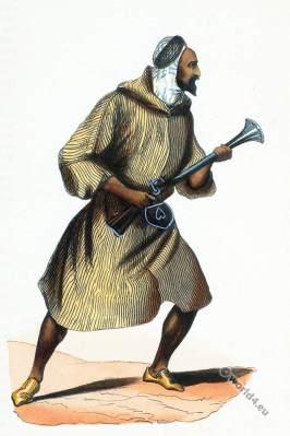 Arab Algeria. Arabic of the plain. Historical clothing.