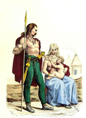 Ancient Gaul familie clothing.
