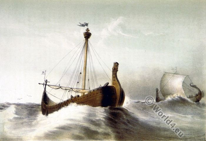 Dutch Boats. 11th century. Middle ages. Viking.