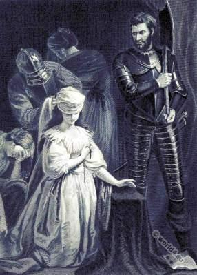 Mary Stuart, Queen of Scots. 16th century clothing. Tudor history