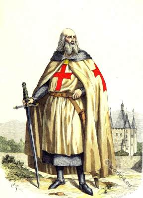 Jacques de Molay. Grand Master of the Knights Templar. Middle ages knight.