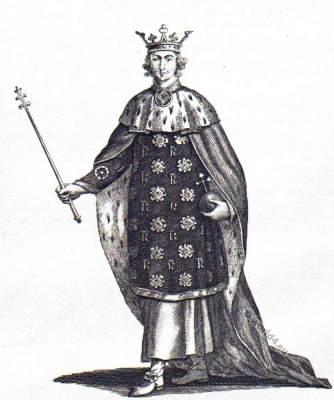 Richard II. Medieval England King. William Shakespeare'