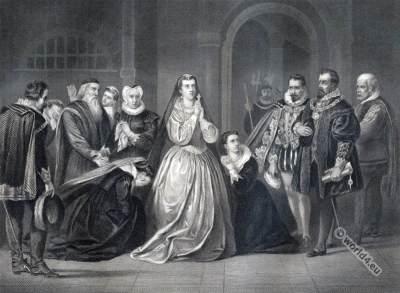 Mary Stuart Queen of Scots. Tudor era costumes