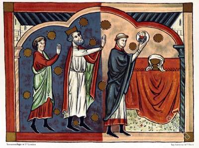 Plantagenet king dress. England Court life. Middle Ages clothing.
