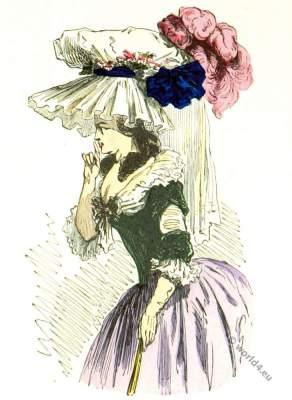 Chapeau, coiffure, bonnette, robe, turque, grande, parure, Rococo, fashion